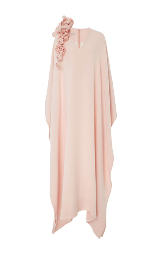 Medium esme vie pink v neck caftan with floral brooch