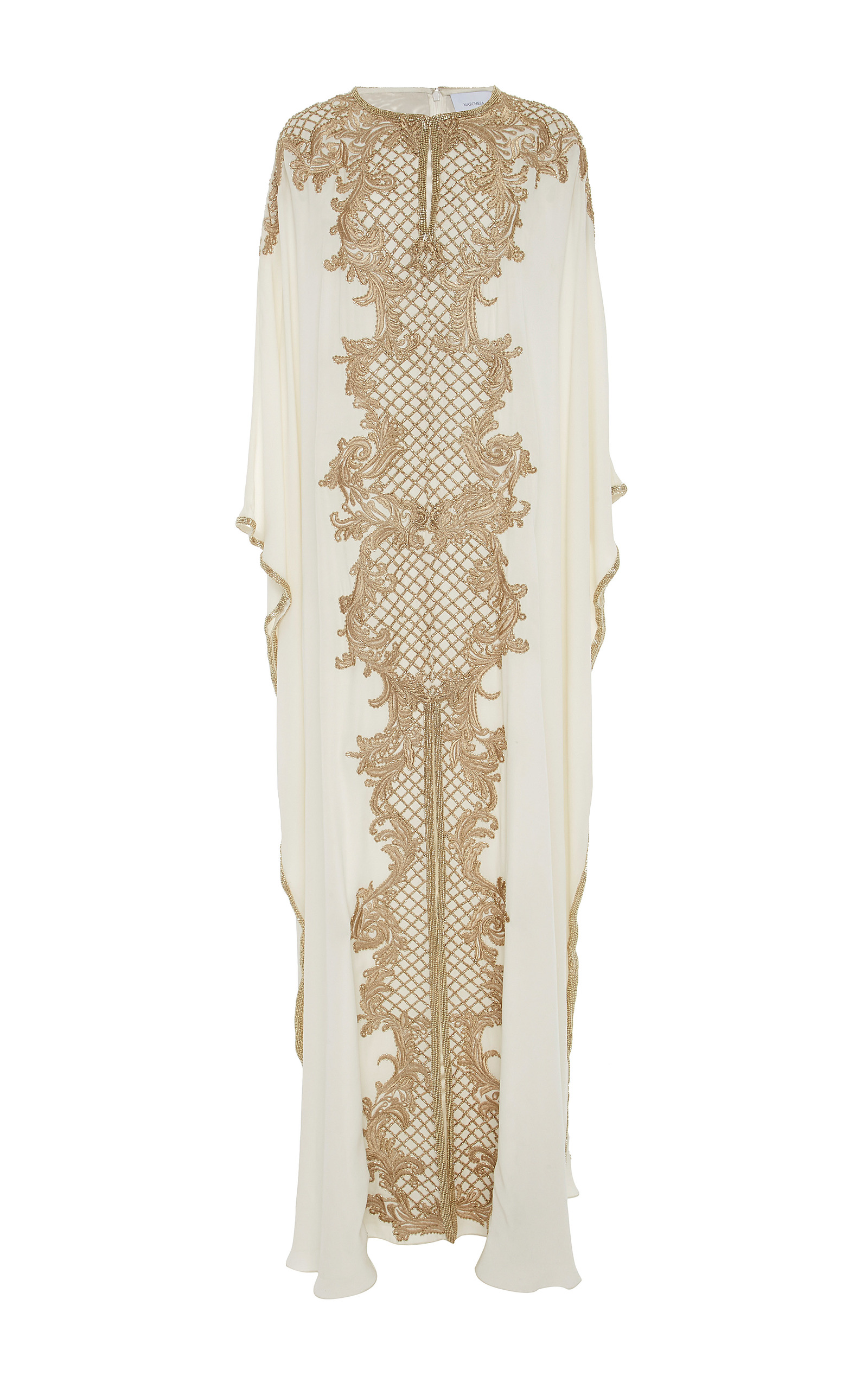 MO Exclusive Beaded Caftan Marchesa ZPeeAJn
