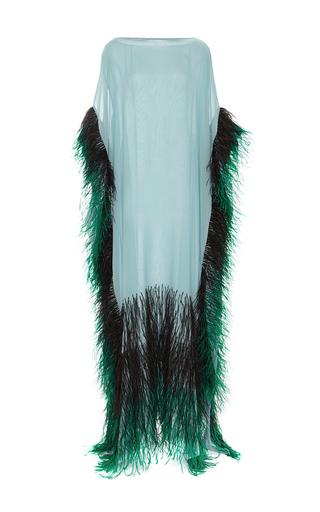 Medium elizabeth kennedy blue feathered caftan