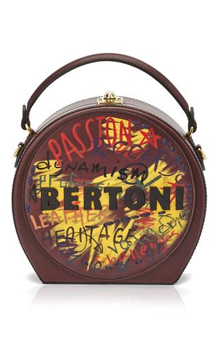 Medium bertoni burgundy regular bertoncina with painted detail