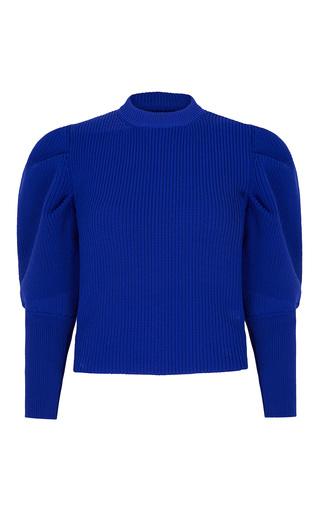 Medium paper london blue rocket pleated sleeve jumper