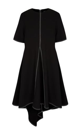 Medium paper london black swing short sleeve dress