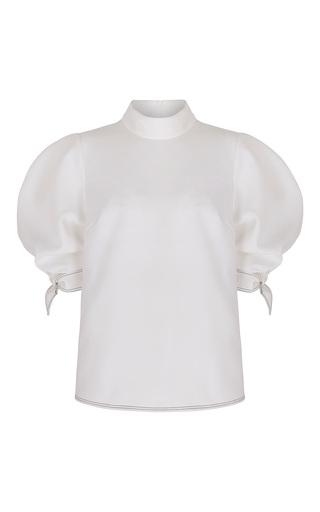 Medium paper london white rose tied sleeve top