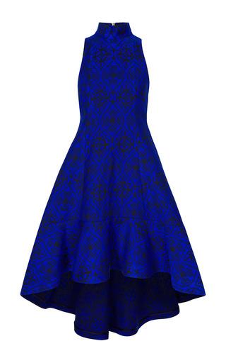 Medium paper london blue momo high low dress