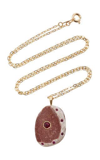 Medium cvc stones pink habibi necklace