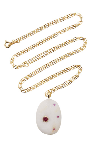 Medium cvc stones white my angel necklace