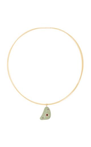 Medium cvc stones green lovin necklace
