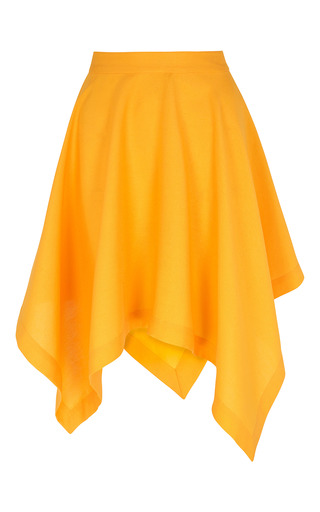Medium paper london yellow squire asymmetric skirt