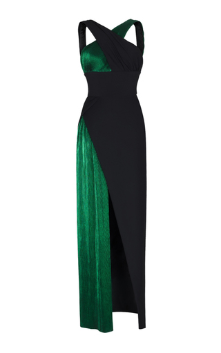 Medium rasario green cross front gown