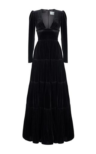 Medium rasario black long sleeve v neck gown
