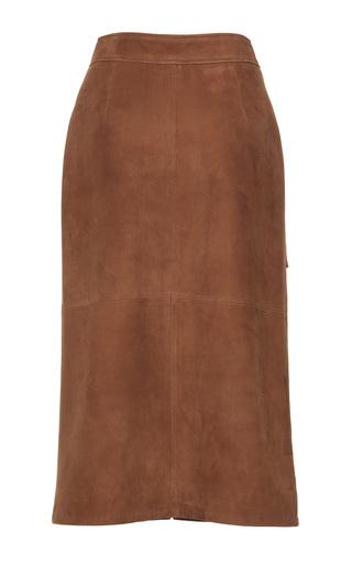 Suede Leather Skirt by Yves Salomon Paris | Moda Operandi