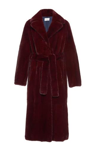 Medium yves salomon paris burgundy mink coat 3