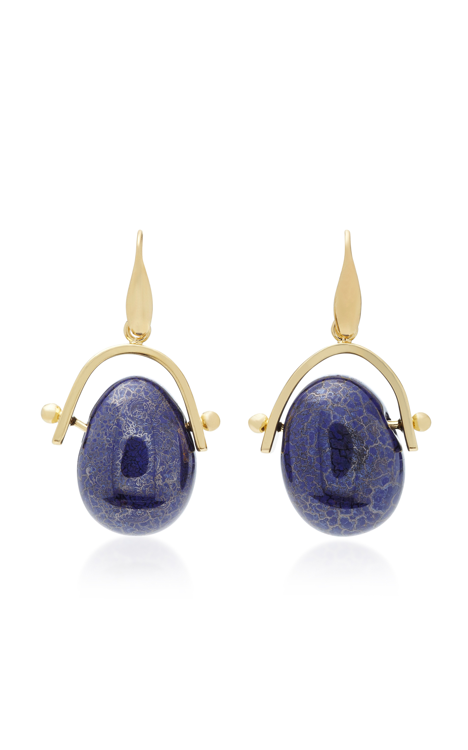 Gold-Tone Brass Pebble Earrings Isabel Marant 0FOnlQmfw
