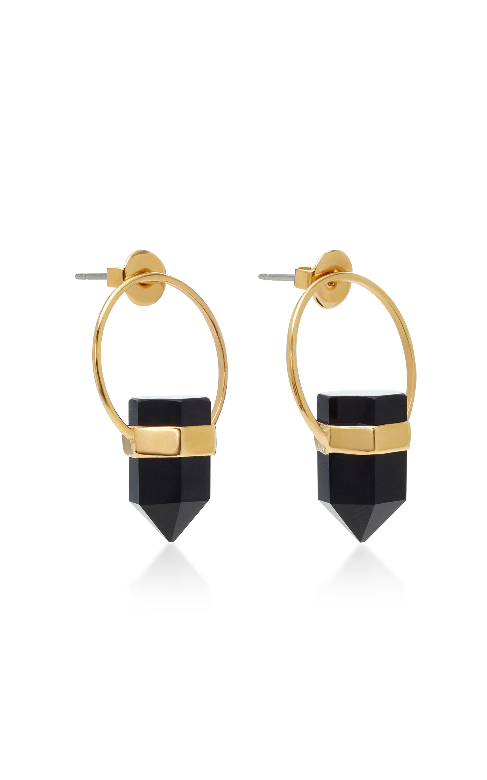 5a9463aba1 Gold-Plated Brass and Agate Crystal Earrings by Isabel Marant | Moda ...