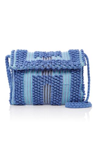 Medium antonello blue suni quadri shoulder bag