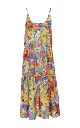 Medium stella mccartney floral iconic floral print midi dress