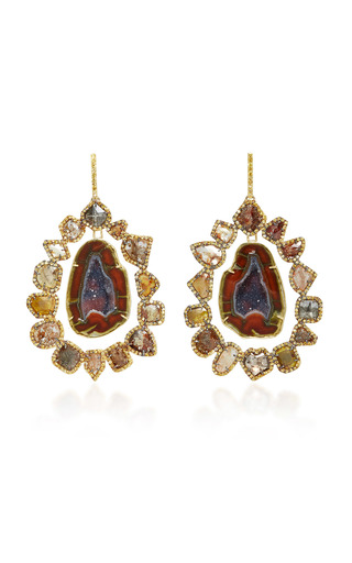 Medium kimberly mcdonald blue geode and diamond earrings