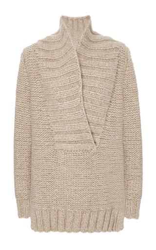 Medium nellie partow neutral bryn shawl collar sweater