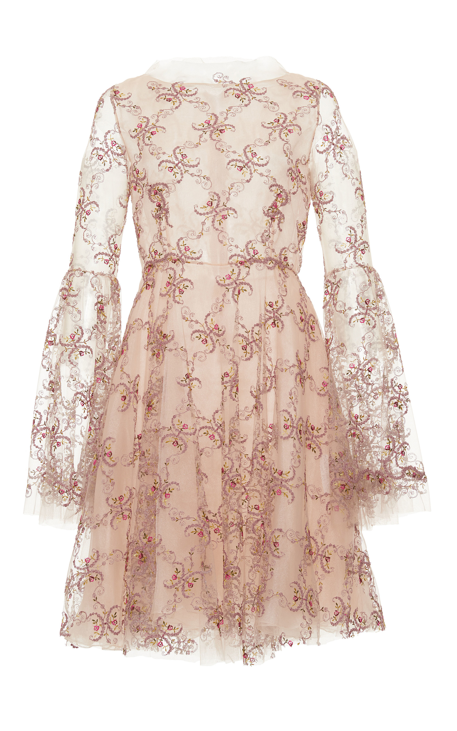 Floral embroidered mini dress by luisa beccaria moda