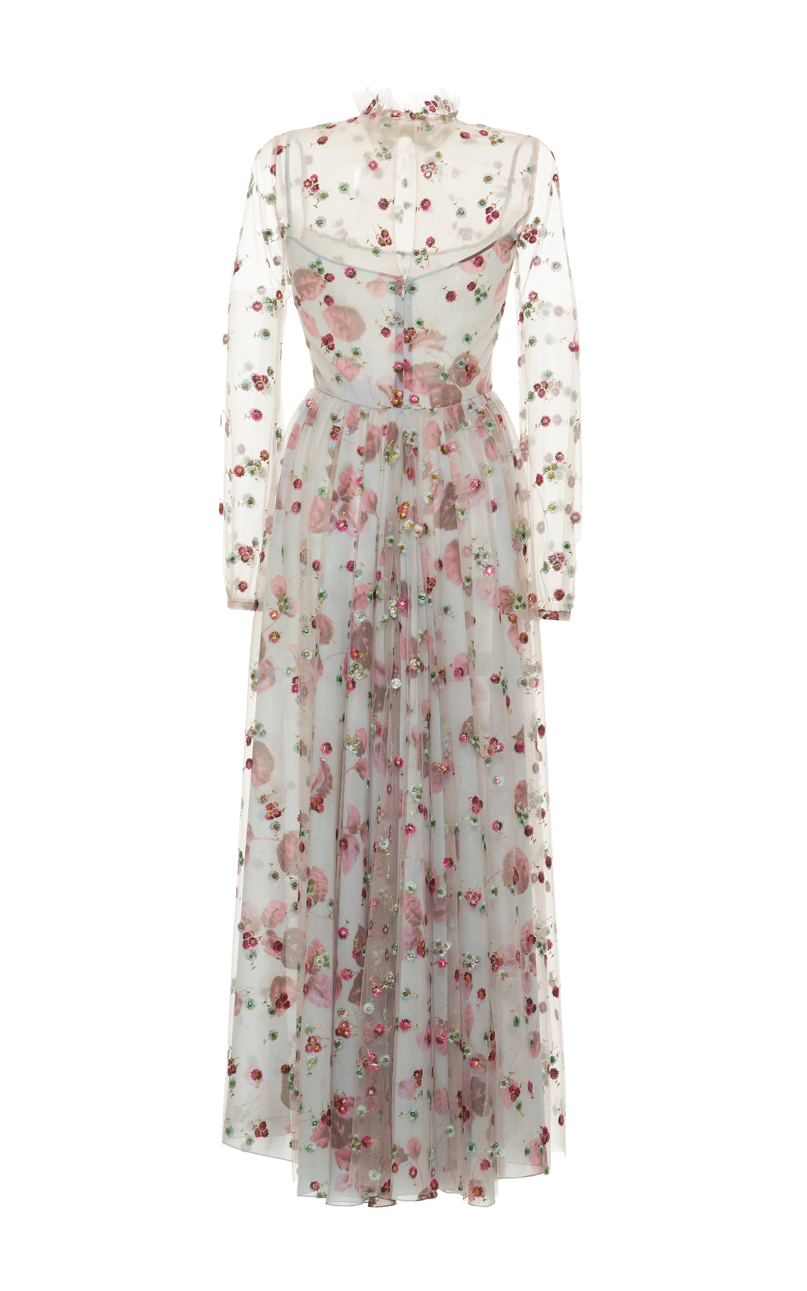 ec31c1b49723e4 Luisa BeccariaTulle Floral Embroidered Maxi Dress. CLOSE. Loading. Loading