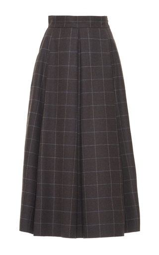 Medium luisa beccaria plaid plaid a line midi skirt