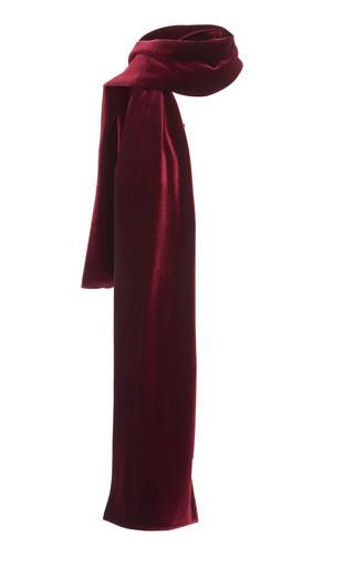 Medium luisa beccaria red velvet scarf
