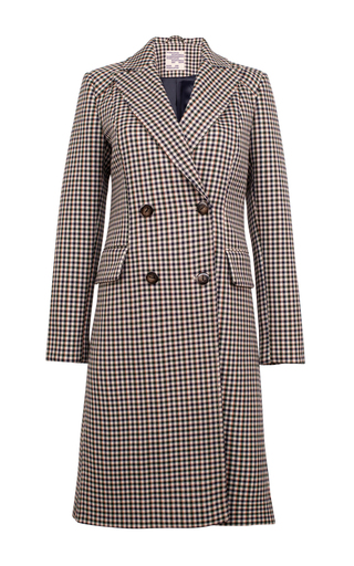 Medium baum und pferdgarten plaid damara double breasted coat