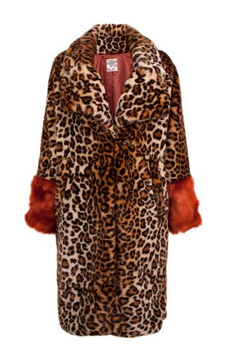 Medium baum und pferdgarten animal davan leopard coat