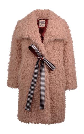 Medium baum und pferdgarten neutral damani shearling coat