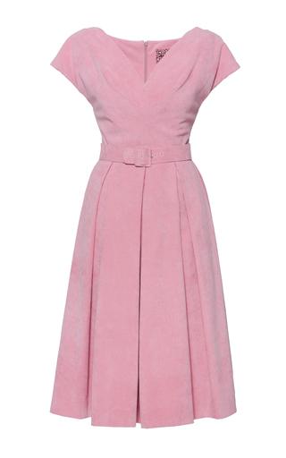 Medium lena hoschek pink belted abbey corduroy dress