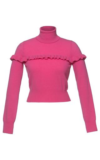 Medium lena hoschek pink long sleeved cropped dollhouse turtleneck