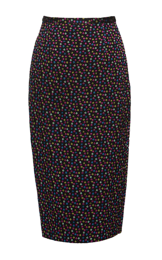 Medium lena hoschek black confetti pencil skirt