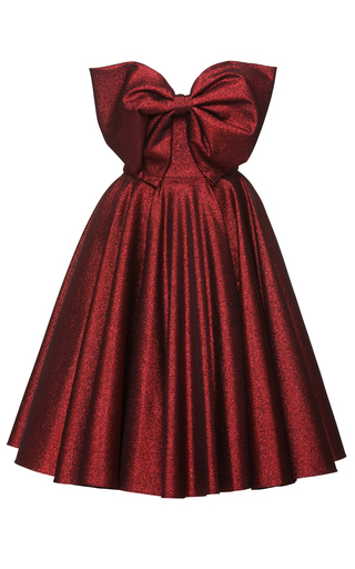 Medium lena hoschek red red carpet bow dress