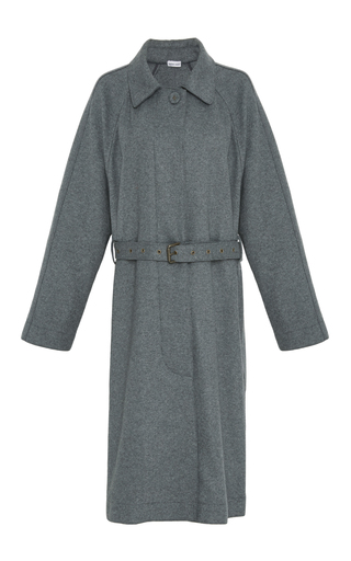Medium tomas maier grey wool belted trench