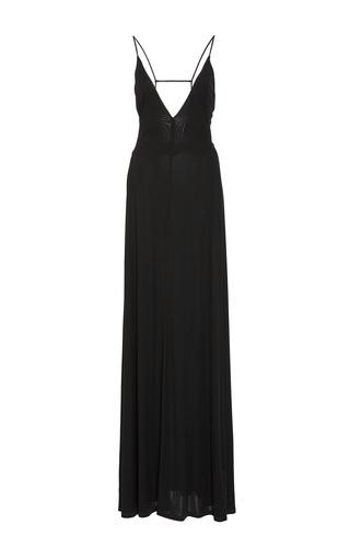 Medium tomas maier black sleeveless v neck long dress