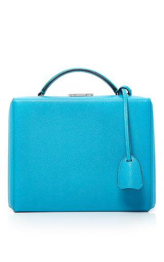 Medium mark cross blue saffiano grace large box bag