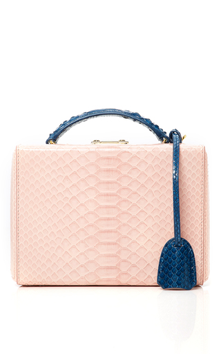 Medium mark cross x chelsea leyland pink python chelsea leyland exclusive small grace box