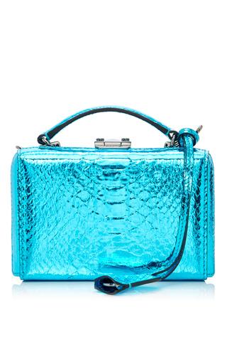 Medium mark cross blue mini python grace box bag