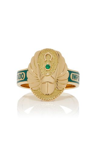 Medium foundrae green protection cigarband