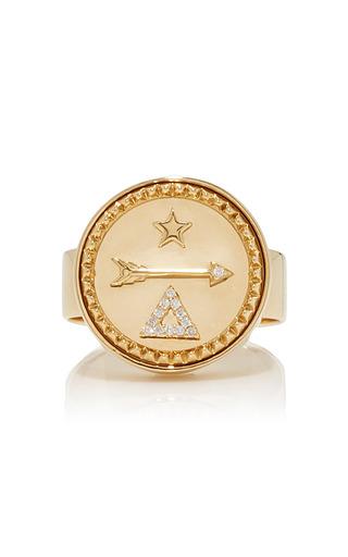 Medium foundrae gold dream signet ring