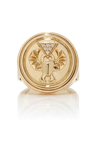 Medium foundrae gold protection signet ring