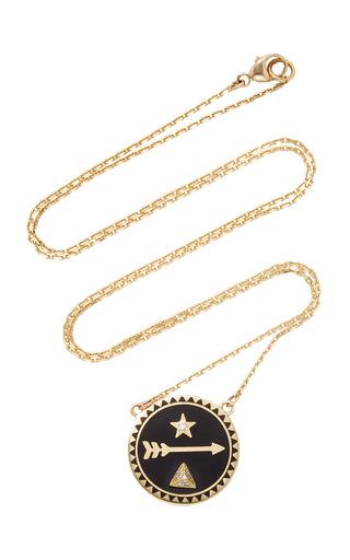 Medium foundrae black dream petite champleve stationary necklace