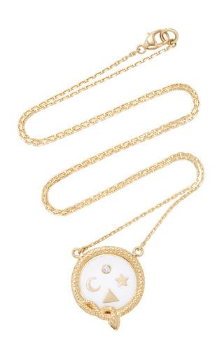 Medium foundrae white wholeness petite champleve stationary necklace
