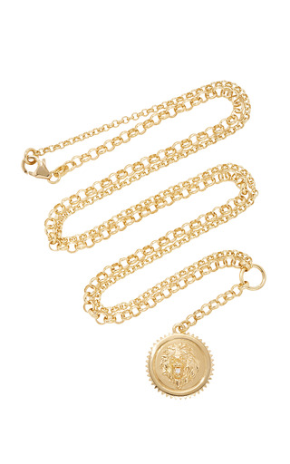 Medium foundrae gold strength medium medallion on 28 mixed belcher chain