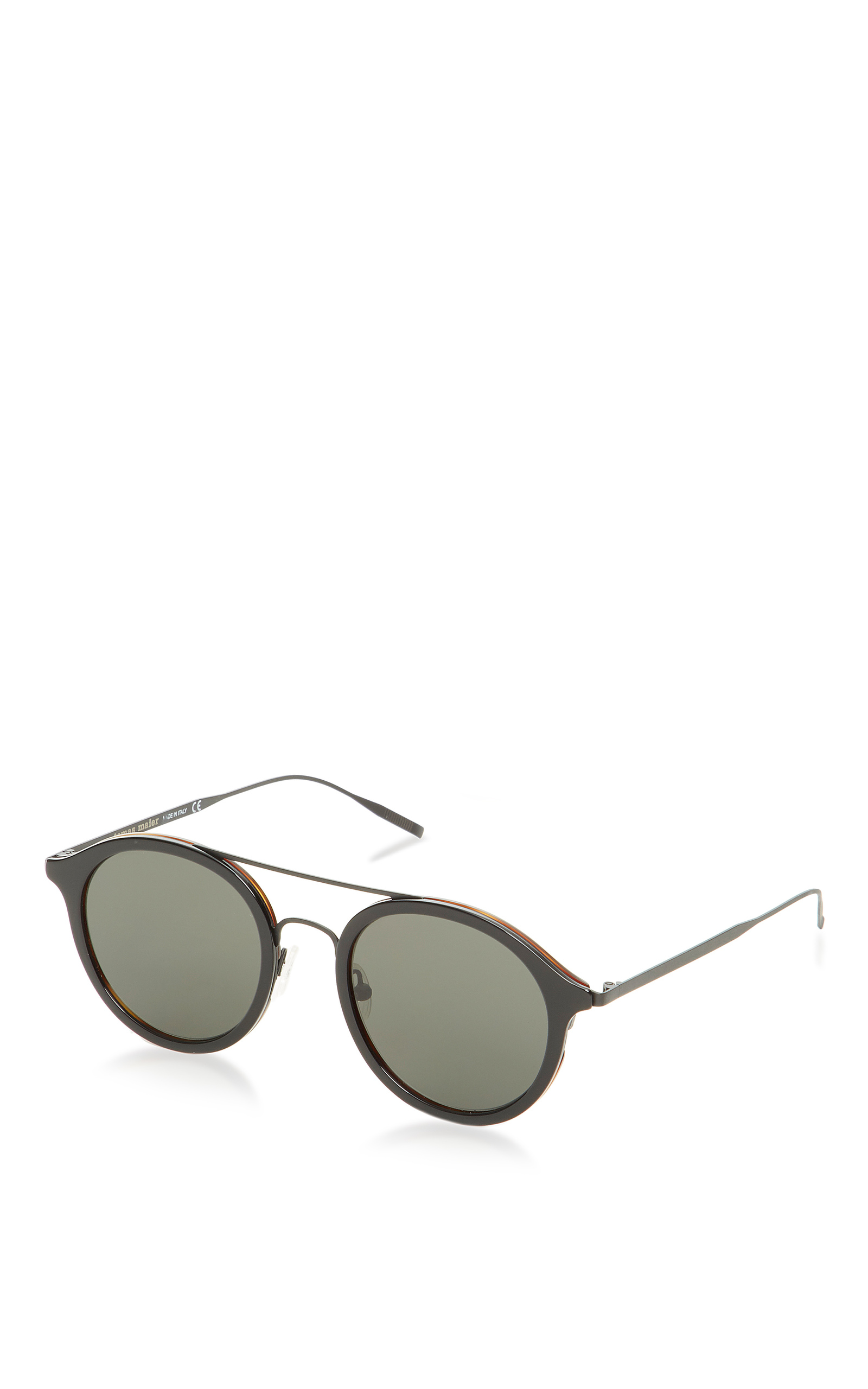 Large Thin Frame Glasses Matte Black : Round Sunglasses with Matte Frame by Tomas Maier Moda ...