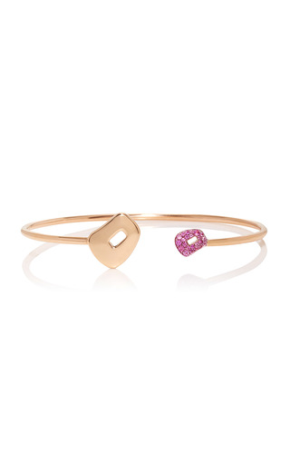 Medium mattioli pink puzzle bracelet with pink sapphires