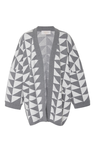 Medium tak ori grey oversized triangle cardigan