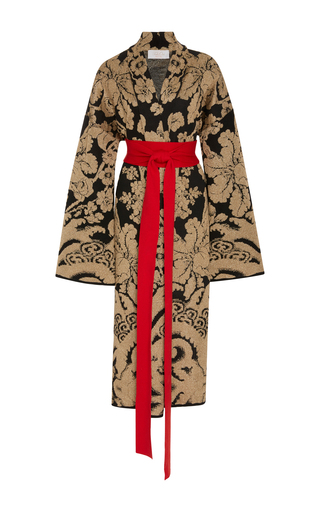 Medium tak ori metallic belted lurex kimono