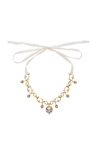 Medium erickson beamon gold my one and only crystal and pearl necklace
