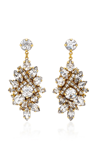 Medium erickson beamon gold parlor trick crystal earrings